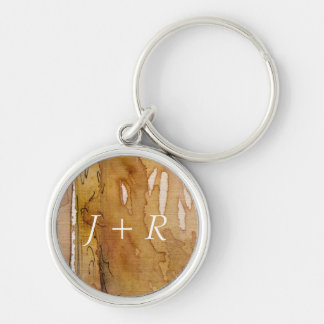 Artistic background watercolor Silver-Colored round keychain