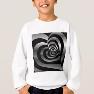 Artistic background with hearts sweatshirt