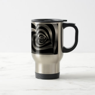 Artistic background with hearts travel mug