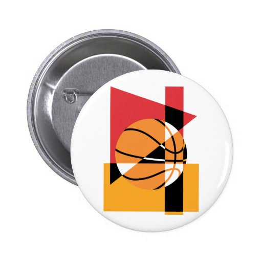 Artistic Basketball 2 Inch Round Button