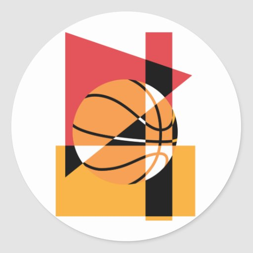 Artistic Basketball Classic Round Sticker