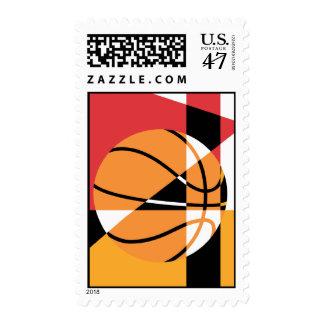 Artistic Basketball Postage