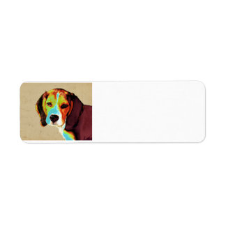 Artistic Beagle Label