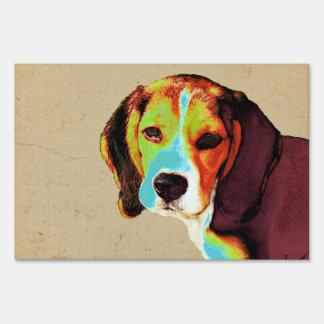 Artistic Beagle Sign