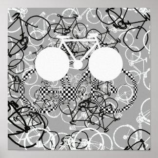 artistic bike graphic-design poster
