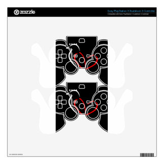 Artistic bird with wings shaped like a heart PS3 controller skins