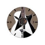 Artistic Black and White Dean Guitar Round Clock