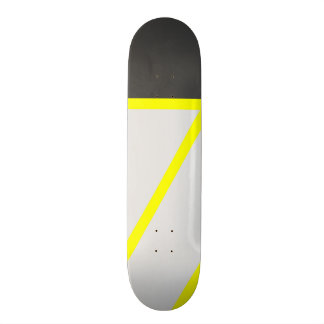 Artistic black neon yellow modern stripes skateboard