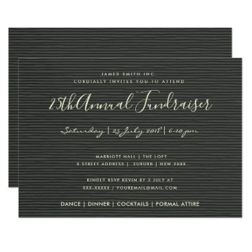 Professional Business ARTISTIC BLACK SKETCH STRIPED LINE CORPORATE EVENT CARD