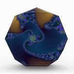 Artistic Blue Acrylic Award