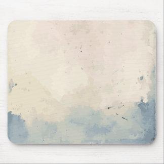 Artistic Blue/Beige Watercolor Mouse Pad