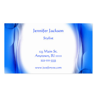 Artistic Blue Business Cards