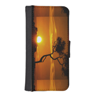 Artistic Bonsai Tree Golden Sunset photography iPhone SE/5/5s Wallet Case