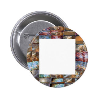 Artistic Border -  Add your text or Image Pinback Button