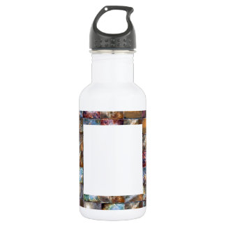 Artistic Border -  Add your text or Image Water Bottle