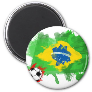 Artistic Brazil Flag - Customizable design Magnet