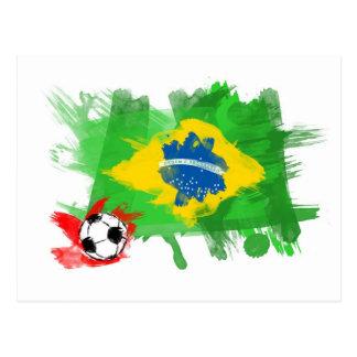 Artistic Brazil Flag - Customizable design Postcard