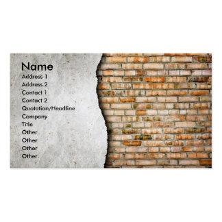 ARTISTIC BRICK & CONCRETE WALL CONSTRUCTION BUSINESS CARD
