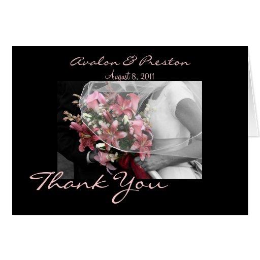 Wedding Gift For Artsy Couple : Artistic Bridal Couple Wedding Thank You Card Zazzle