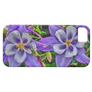 Artistic bright columbine flower iphone 5 case