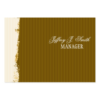 Artistic Brushstrokes Rust Earth-Colors Large Business Card