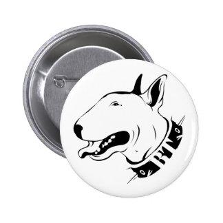 Artistic Bull Terrier Dog Breed Design Pinback Button