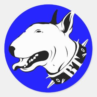 Artistic Bull Terrier Dog Breed Design Classic Round Sticker