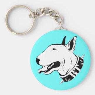 Artistic Bull Terrier Dog Breed Design Keychain
