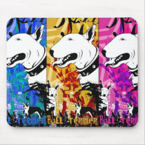 Artistic Bull Terrier Dog Breed Design Mouse Pad