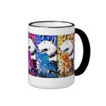 Artistic Bull Terrier Dog Breed Design Mugs