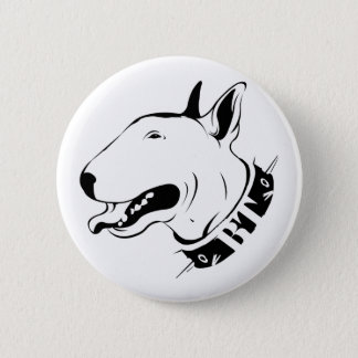 Artistic Bull Terrier Dog Breed Design Pinback Button