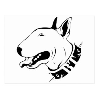 Artistic Bull Terrier Dog Breed Design Postcard