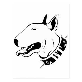 Artistic Bull Terrier Dog Breed Design Postcard