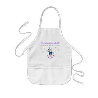 Artistic Bunny Drawing - Kids Practice Creativity Kids' Apron
