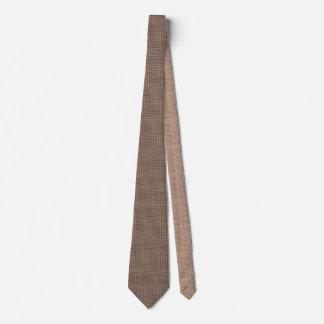 Artistic Burlap Brown Beige Tan Weave Neck Ties