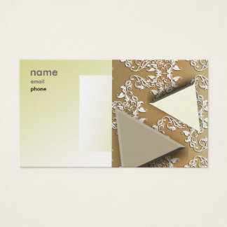 Artistic Business Card in Gold
