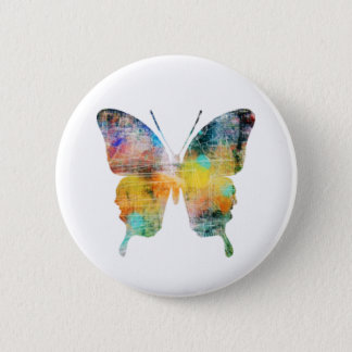 Artistic Butterfly Button