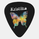 Artistic Butterfly Custom Name Guitar Pick