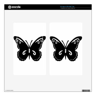 Artistic Butterfly Decal For Kindle Fire