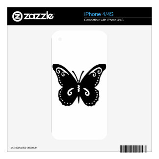 Artistic Butterfly Decals For iPhone 4S