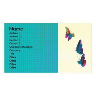 Artistic  Butterfly Flying in the Sky Double-Sided Standard Business Cards (Pack Of 100)