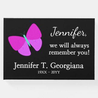 Artistic Butterfly Funeral/Memorial Guest Book