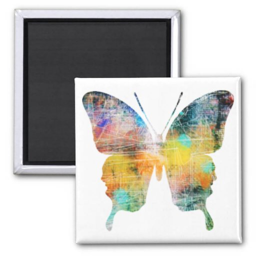 Artistic Butterfly Refrigerator Magnets