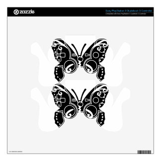 Artistic Butterfly Skin For PS3 Controller