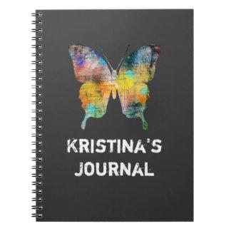 Artistic Butterfly Spiral Notebook