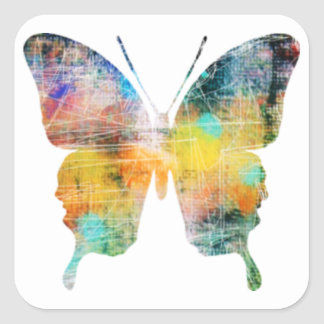 Artistic Butterfly Square Sticker