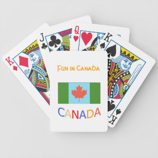 Artistic Canada flag patriotism.  Canada Day. Bicycle Playing Cards