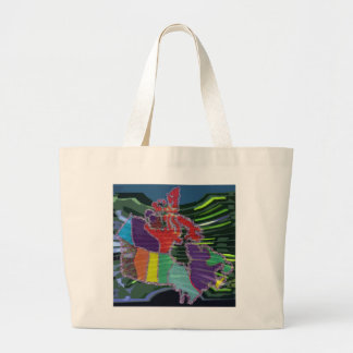 Artistic Canadian Map and MapleLeaf Bag