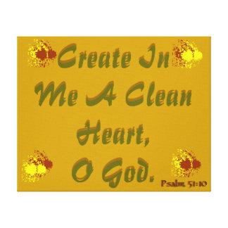 Artistic Canvas art Create a clean heart verse!