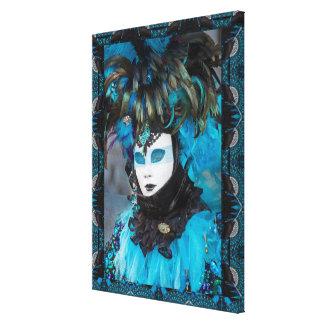 Artistic Carnival Costume Portrait, Venice Canvas Print